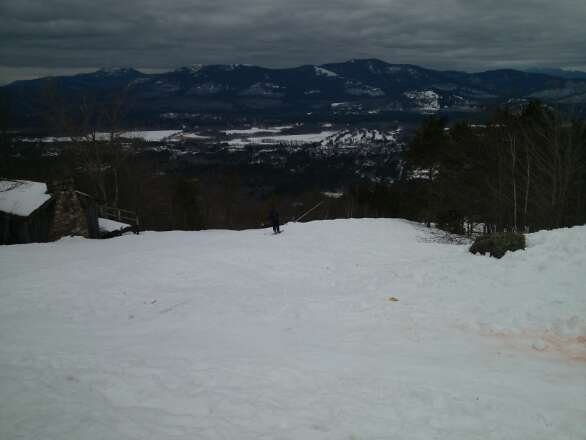 Great day at Cranmore.  Snow is soft and plentiful with no lift lines. Spring skiing at it's best.
