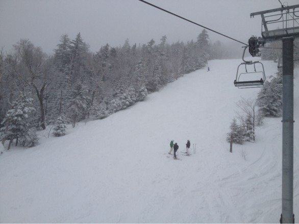 keep ur tips up today so u don't sink in the powder