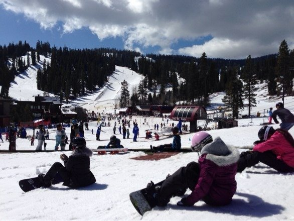 Great spring skiing. Sunny and fun