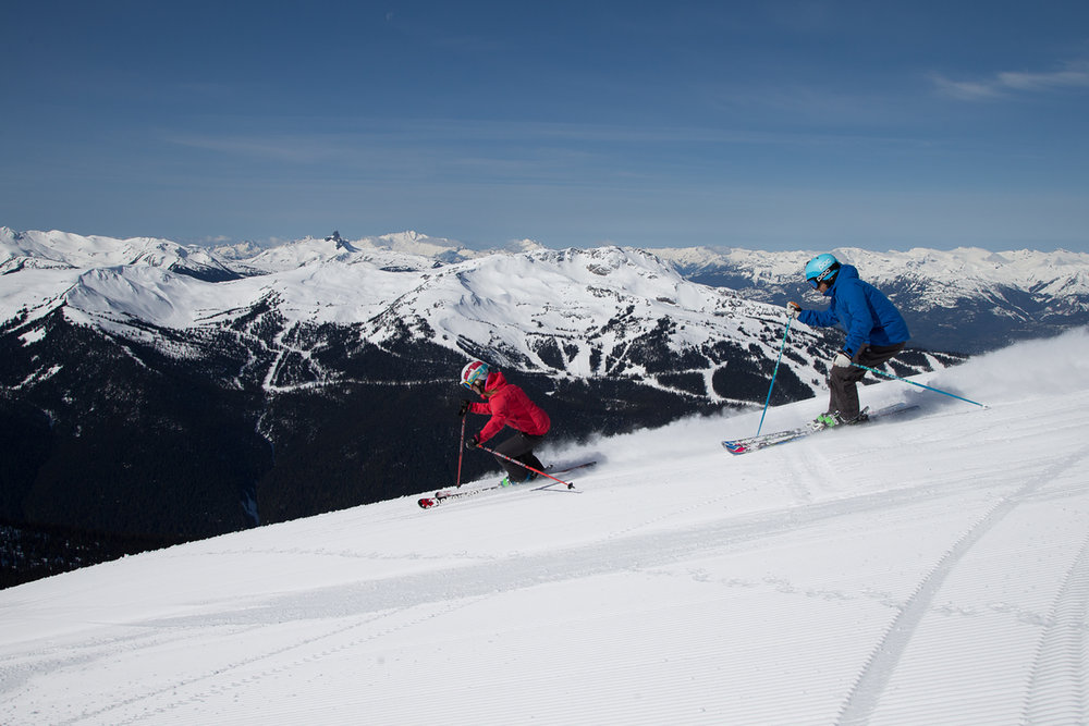 On average, Whistler Blackcomb grooms more than 1,100 acres of perfect corduroy every night.  - ©Paul Morrison