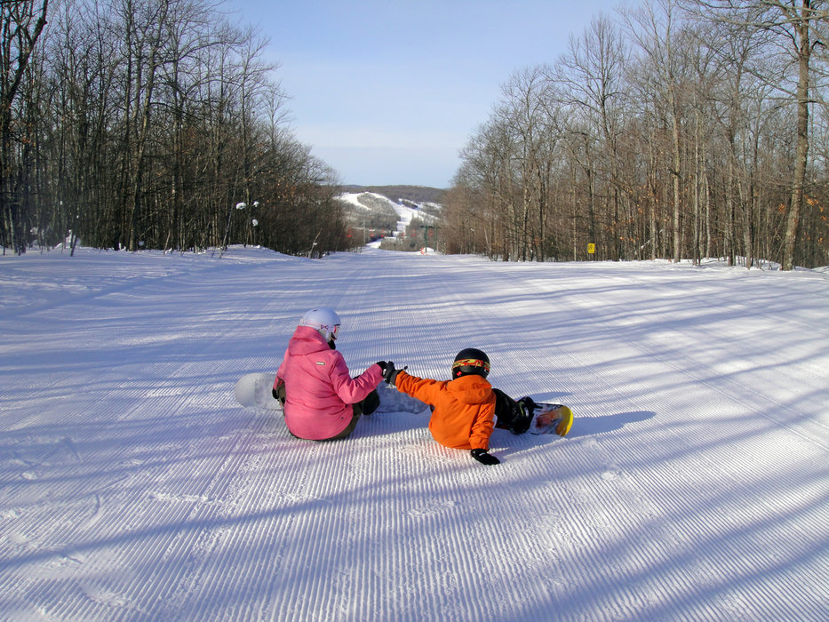 Fist bumpin' on a great day at Indianhead.