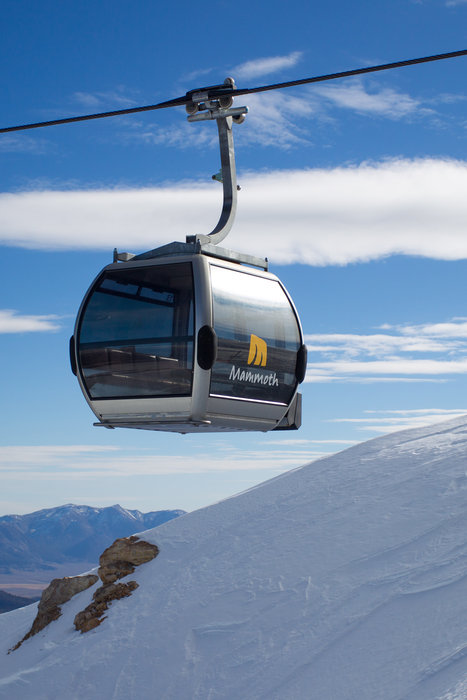 Mammoth's gondola takes skiers to a variety of terrain in style.