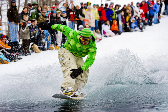 Slush Cup boarder - ©Shanty Creek Resort