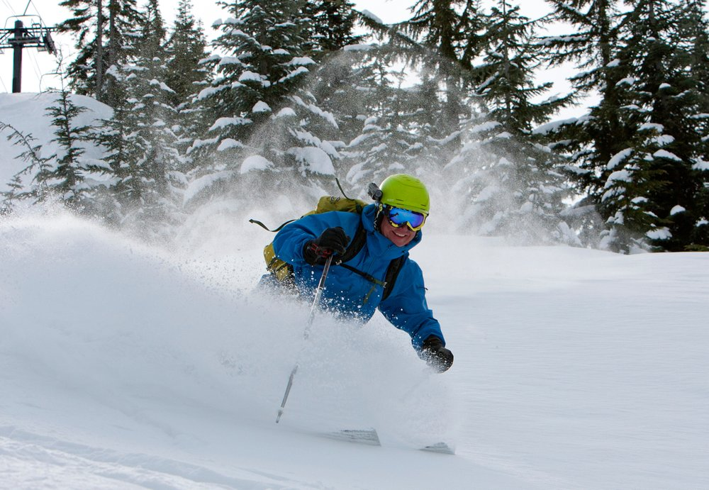 Summit East offers wide-open powder shots at the Summit at Snoqualmie.