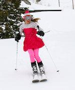 Technical ski gear changes form during springtime at Alta.