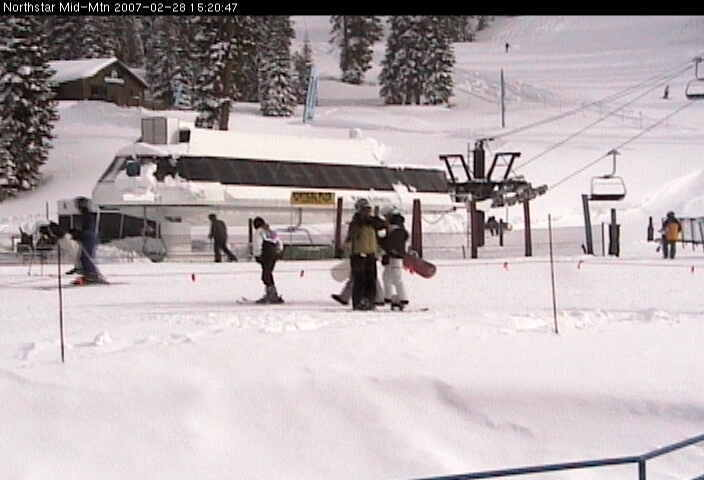 Ski lift at Northstar-at-Tahoe, California