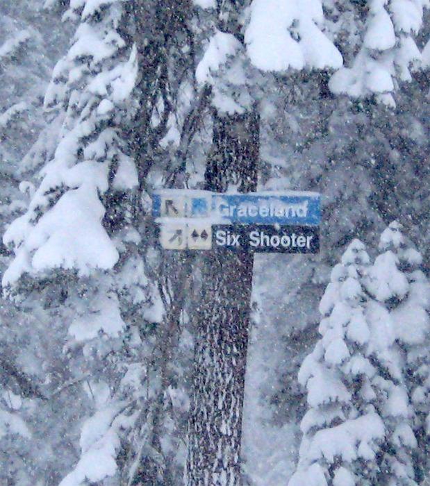 A sign at Dodge Ridge, CA, taken 12/15/2008.