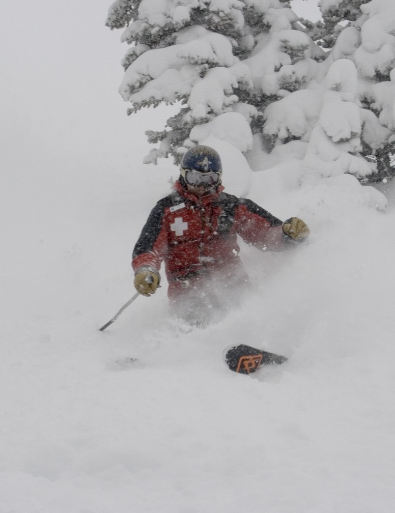 Powder skiing at Monarch, CO.