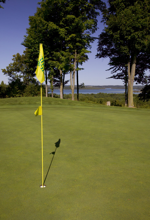 Golf course flag at Shanty Creek