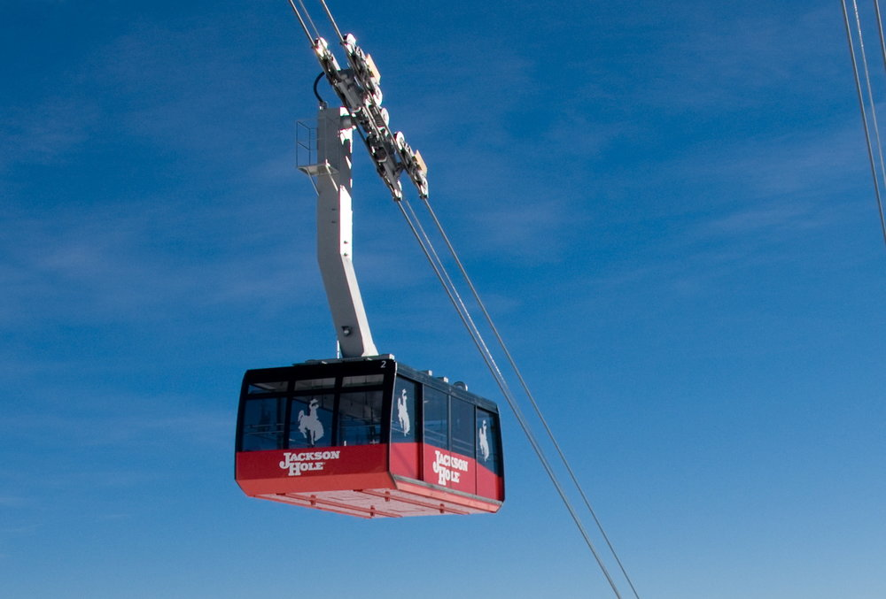 Close up on Jackson Hole gondola