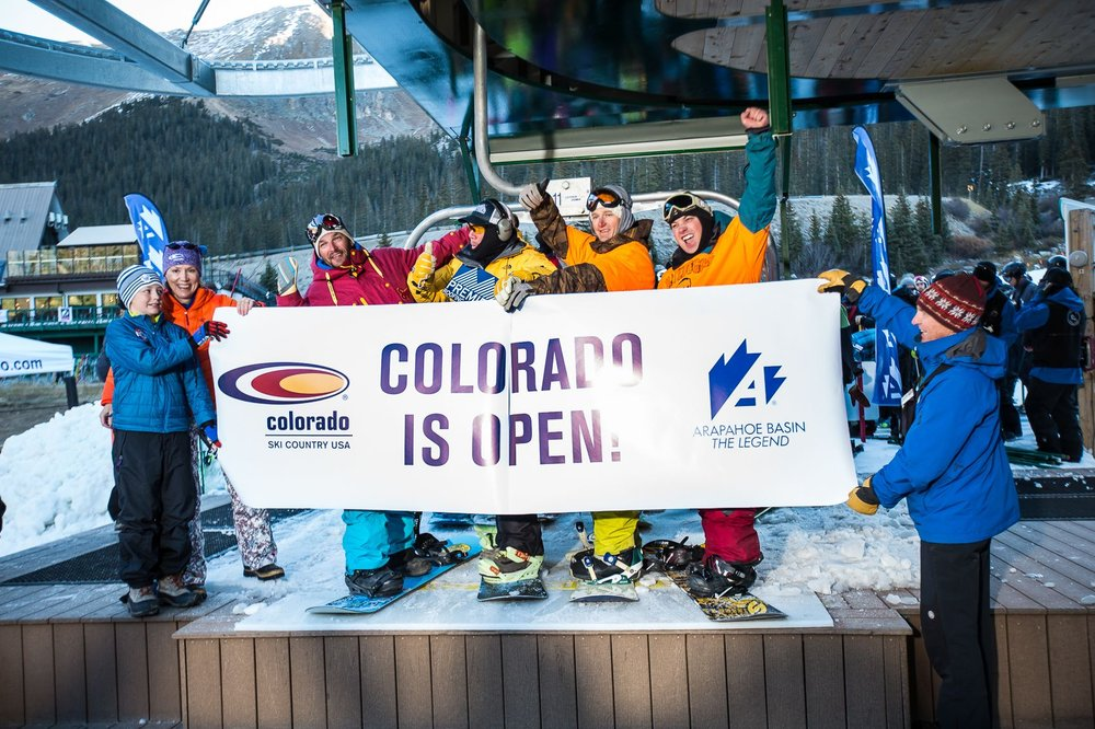 Arapahoe Basin Ski Area opened October 17, 2014. - ©Dave Camara/Arapahoe Basin Ski Area