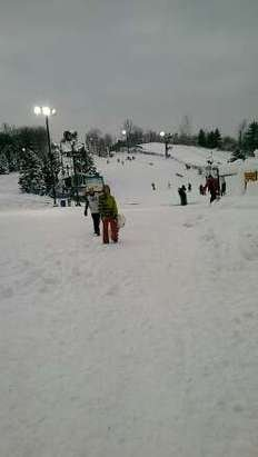 first day open 11/16/2014. very icy and bumpy but it was still snow.