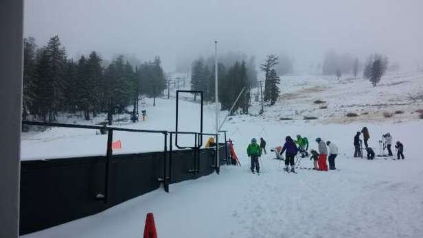 Dumping snow at Gold Coast, runs are groomed well. There should be more runs open this week with all the snow.