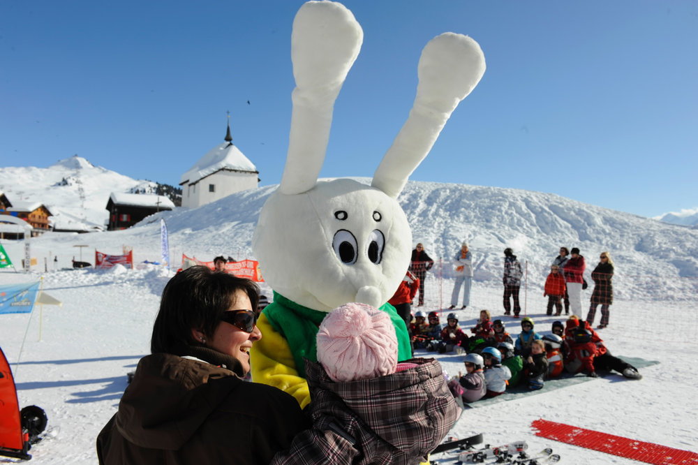 There is also a mascot for the ski resort - ©Aletsch Arena