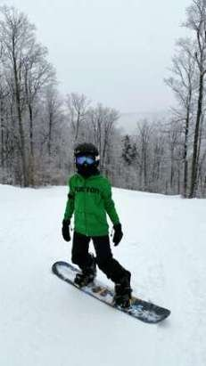 snow got a little mushy in the afternoon today but still had an awesome time