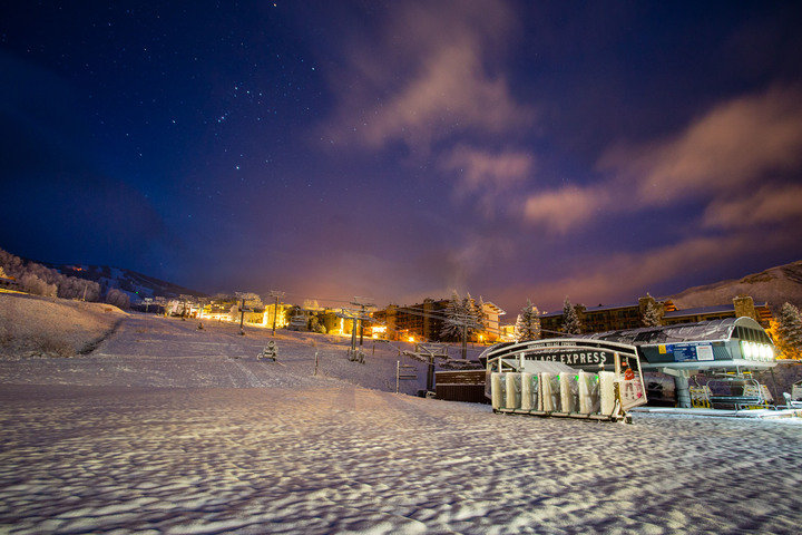 Aspen Snowmass officially kicked-off snowmaking operations in preparation for the 2014/15 ski & ride season.  - ©Jeremy Swanson