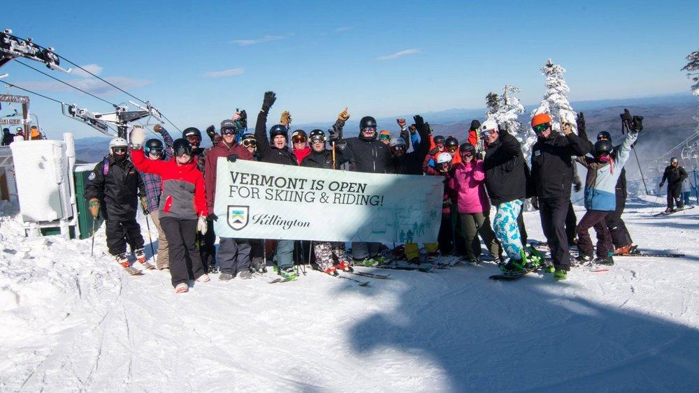Vermont is open for business! - ©Killington Resort