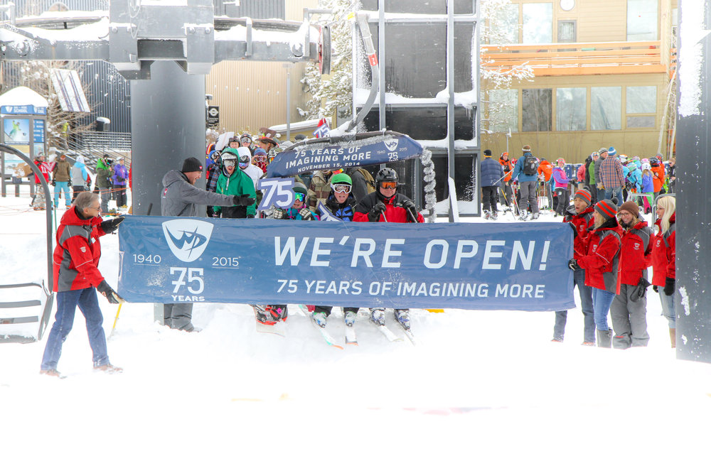 First chair on opening day in Winter Park, Nov. 15, 2014, launches 75th anniversary. - ©Winter Park Resort