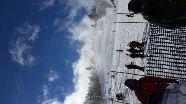 everything is covered! pow on some runs and great weather to fo around! beat day at Summit in years!!!