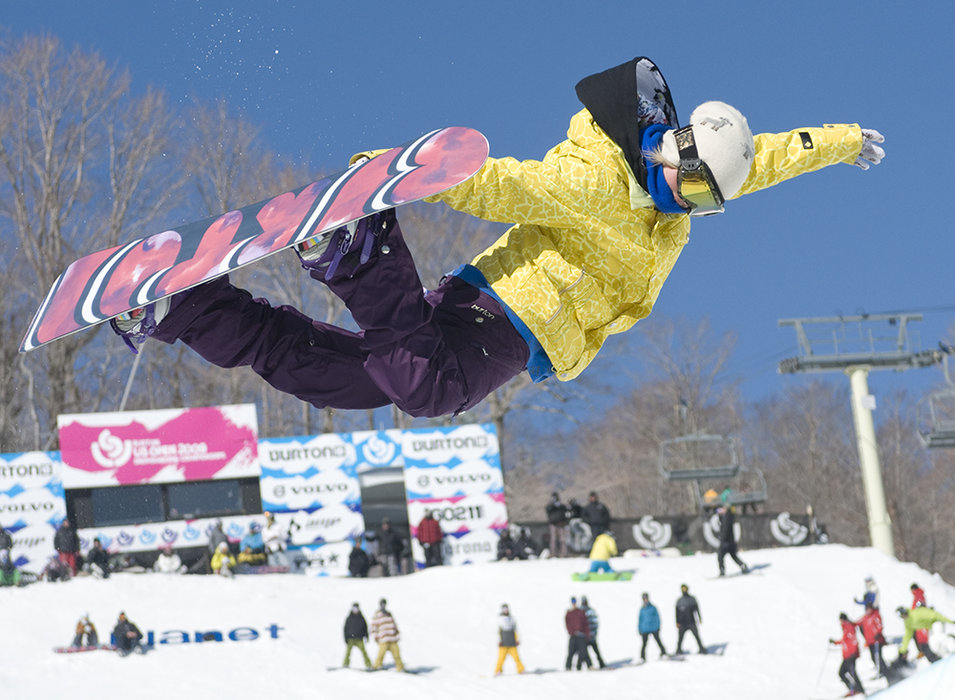 Linn Haug on half-pipe Burton US Open 2009 at Stratton
