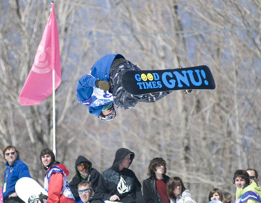 Danny Kass winning the Men's Half-pipe, Burton US Open 2009, Stratton