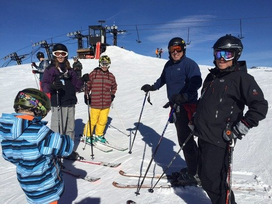 Good snow pack, groomed runs with plenty of snow. Welcome to the new owners at Bear Valley we had a great weekend.