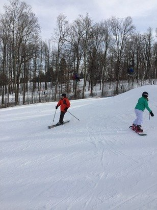 Impressive conditions especially considering the lack of winter we have had!  Great job Snow Trails!!