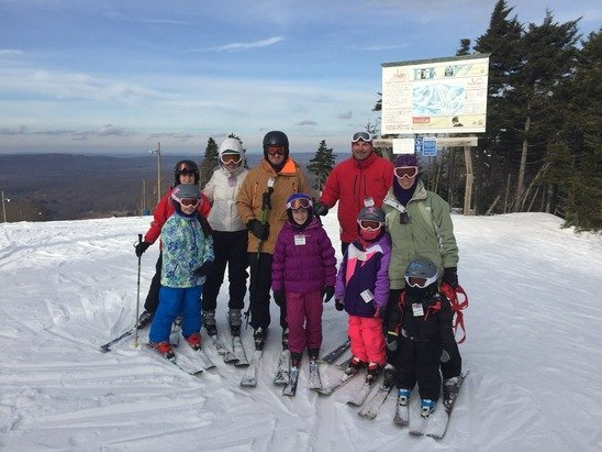 Family ski fiesta was a blast. Great conditions for man made snow only. Four days of good skiing in a row. Weather and staff were fantastic! Limited trails open but the ones that were open were great and maintained really well.