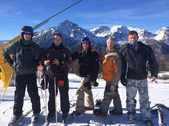 Great day Boarding/Skiing!! Plenty of the White stuff up the top.  The boys from Worthing Fire Station