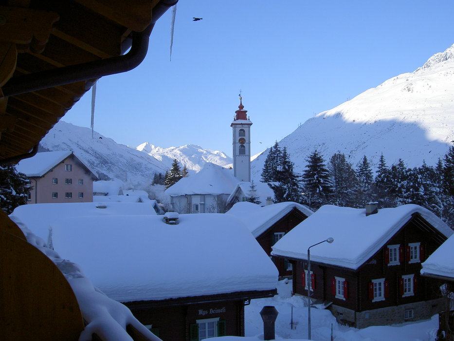 Andermat 2005 -view from our balcony - ©snowbandit @ Skiinfo Lounge