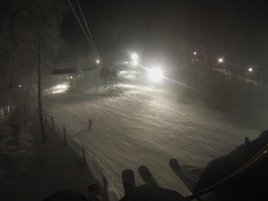 Went on Wednesday night! Pretty good conditions, alot of powder and very little ice. No lines!