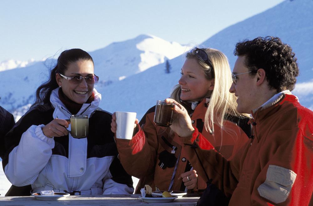 An apres ski toast in Wildschönau, AUT.