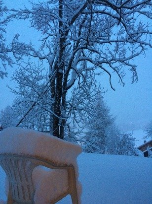 Snow at all levels even in the resort. Groomers going ballistic. Door to door at the moment.