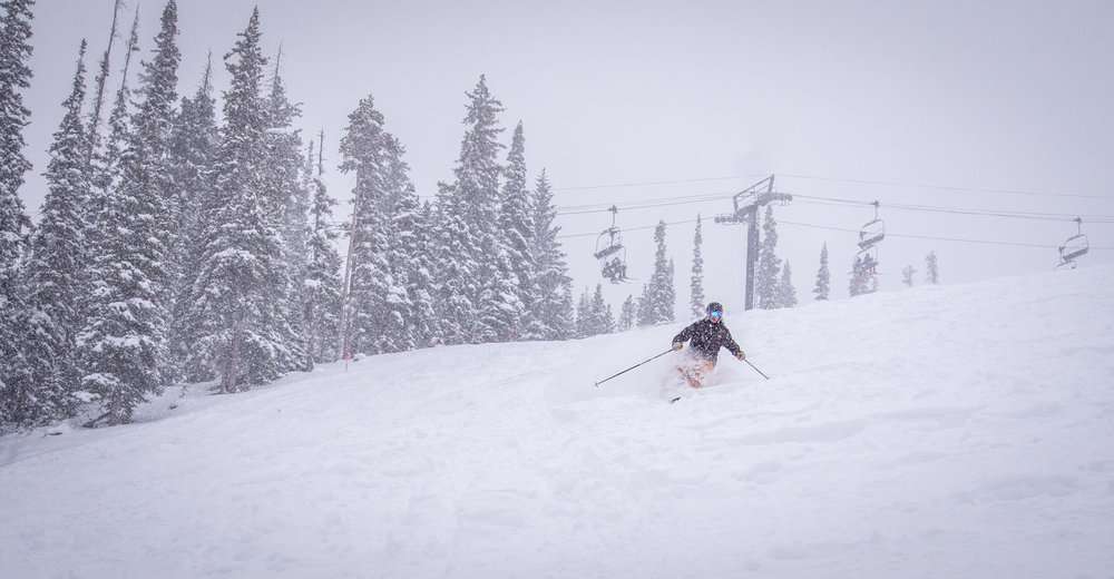 Winter Park picked up more than a foot of fresh.