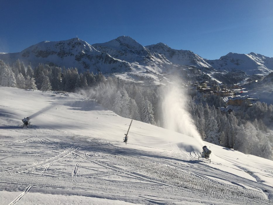 Artficial snowmaking in Obertauern at present - ©Obertauern