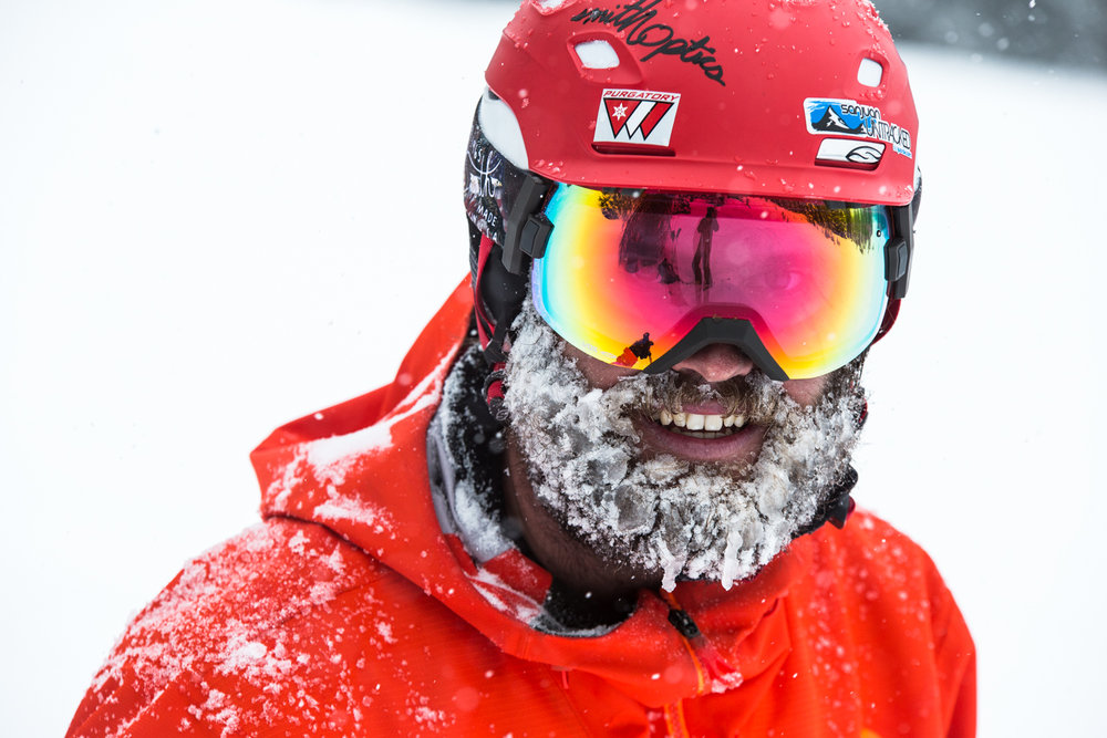 Grady James rocks a proud powder beard. - ©Liam Doran
