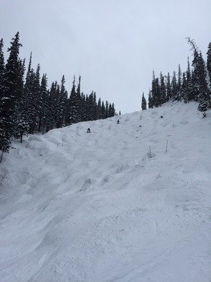 East coasters who are impressed with anything without ICE! nice day to day but watch out for rocks on mogul slopes.