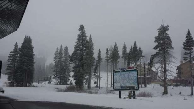 It's snowing here at Kirkwood! nice powder coming down! Looks like we will be getting it all day!