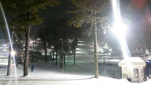 great night ski,  snow was fresh and light,  gonna be a great weekend if you're up!
