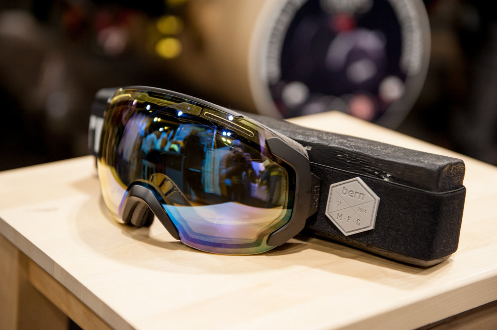 Bern introduces goggles for the first time. Plus Foam, featured therein, is 100% recycled and can be recycled again. - ©Ashleigh Miller Photography