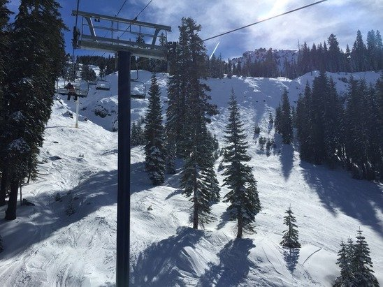 Epic snow conditions today considering they supposedly got