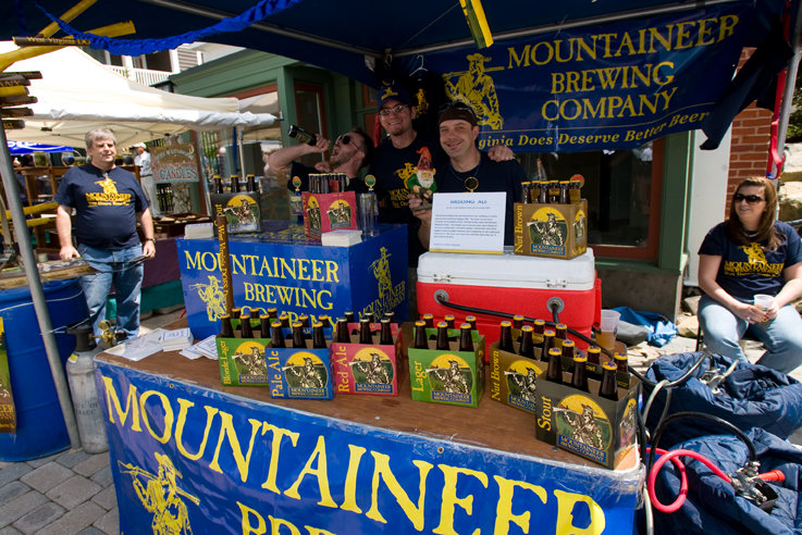 Mountaineer Brewing Company stall at Showshoe
