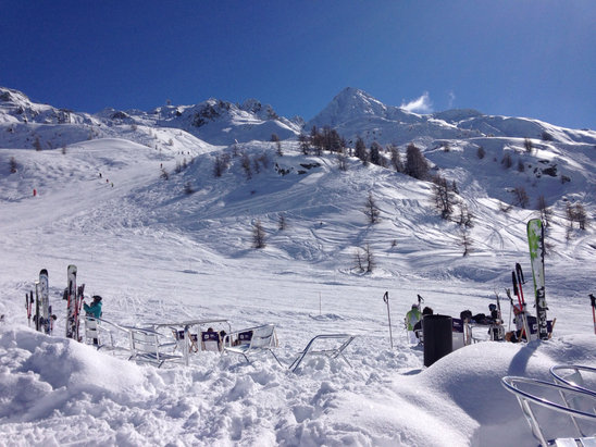 Amazing day - great weather and snow!