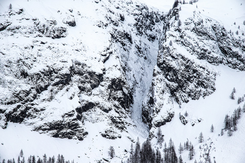 The huge cleft is an actual ski run at Monterosa. Look closely and you can see plenty of tracks. - ©Liam Doran/MSP