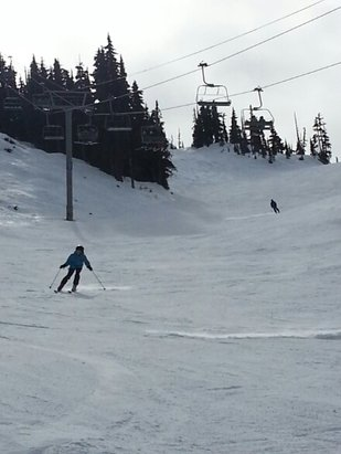 Whistler/Blackcomb - Way better conditions than I expected on Blackcomb today. Good coverage up top. Another beautiful day.