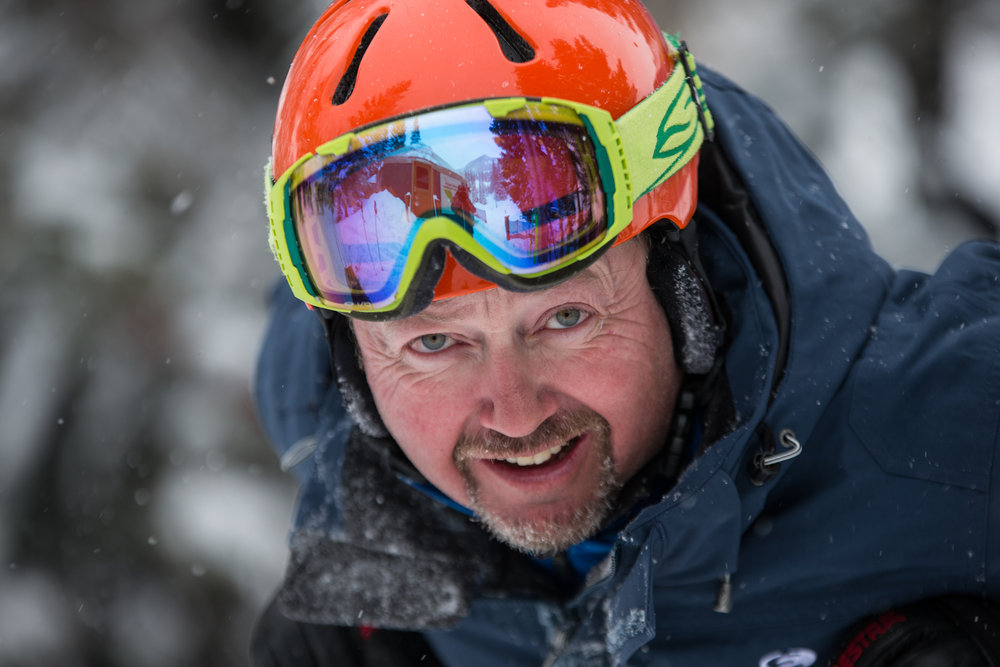 EpicSki's Phil Pugliese likes what he's been skiing.  - © Liam Doran