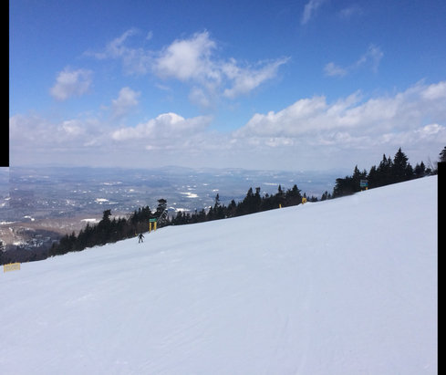 Stratton Mountain - Absolutely perfect day!  No lines, great snow, and some sun. Was still skiing corduroy at lunch. - ©Mike's Phone