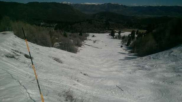 Snowbasin - Getting ugly resort is doing good job keeping the mountain open but without new snow  - ©jtavenner123