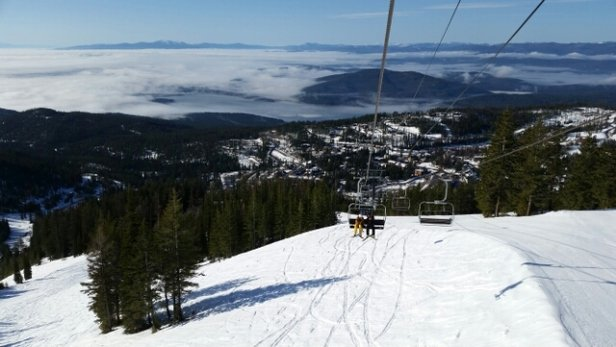 Whitefish Mountain Resort - The new winter storm really is an added bonus to spring skiing. Thank you Lord!