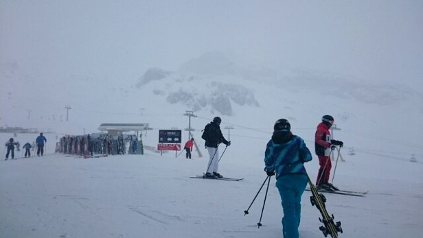Ischgl - today it's hell in heaven - snowstorm,  lots of pistes and cable cars closed  - ©martynas.bar
